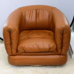 Leather Swivel Barrel Chair Ideas For Covers Pair Of 1970s Brazilian Chairs At