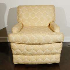 Quilted Swivel Chair Hand Painted Wooden Chairs Pair Of William Haines Quotseniah Quot In Original