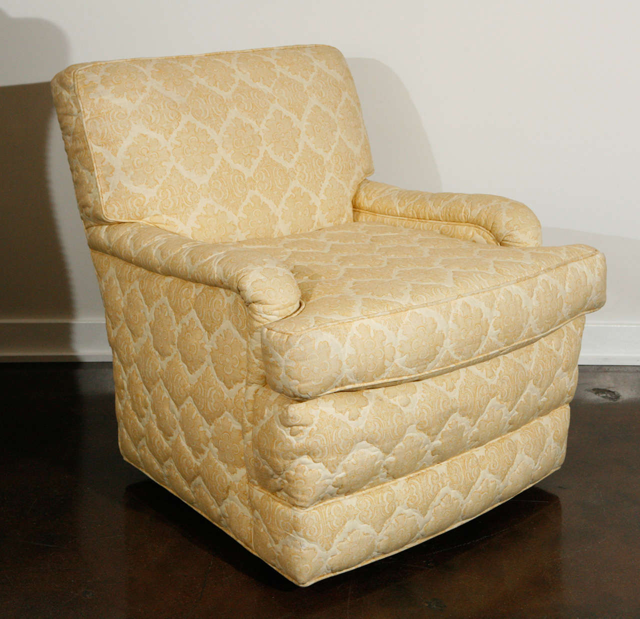 quilted swivel chair dxracer gaming chairs uk pair of william haines quotseniah quot in original