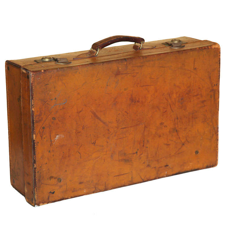 Leather Suit Case At 1stdibs