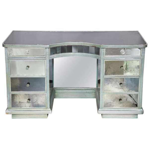 Silver Mirrored Vanity Desk