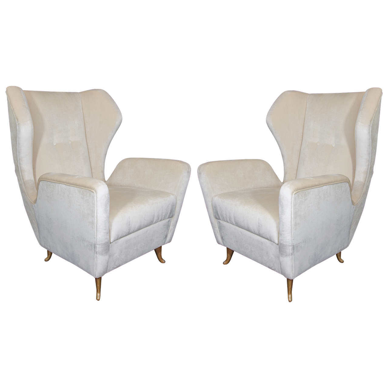 reupholster sofa nyc ikea white stunning pair of gio ponte style chairs reupholstered in