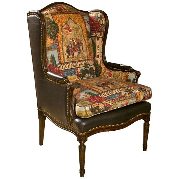 Antique French Style Wing Back Chair
