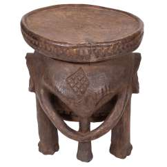 Stool Chair Ghana Slip Covered Dining Chairs With Arms African At 1stdibs