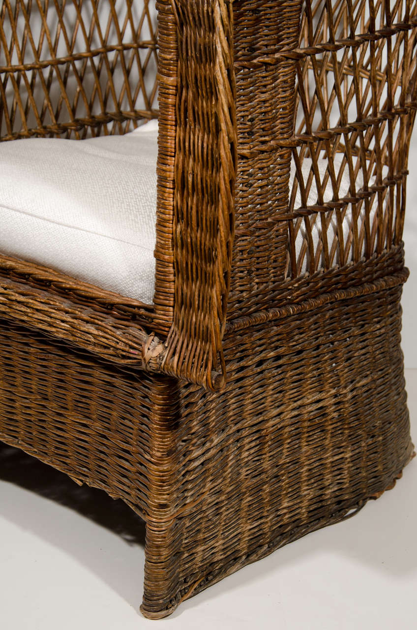 leather safari chair zero gravity with canopy stickley wicker at 1stdibs