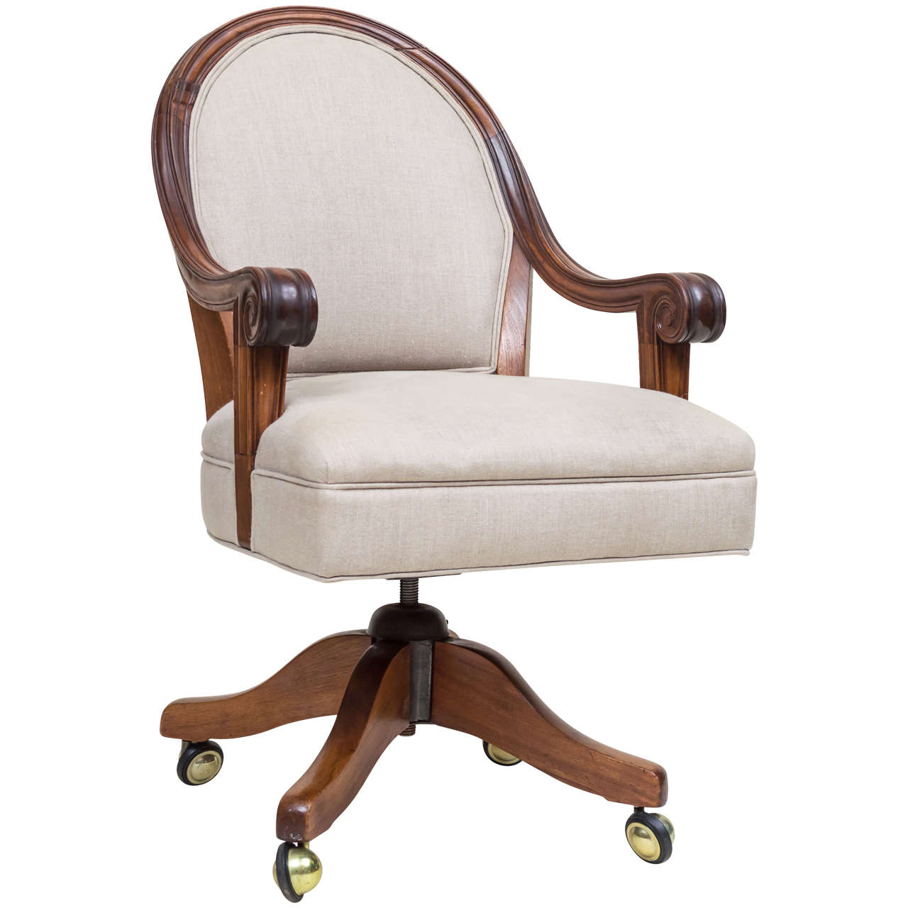 office chair for sale white leather modern late victorian walnut desk at 1stdibs