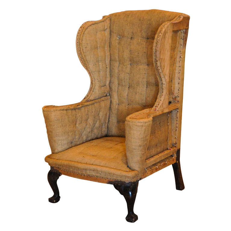 Large Queen Anne Wingback Chair United Kingdom 18th C at