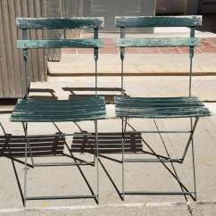 Green French Bistro Chairs Wingback Recliner Chair Australia A Set Of Four Vintage Folding At 1stdibs