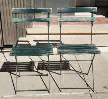 Set Of Four Vintage French Bistro Folding Chairs 1stdibs