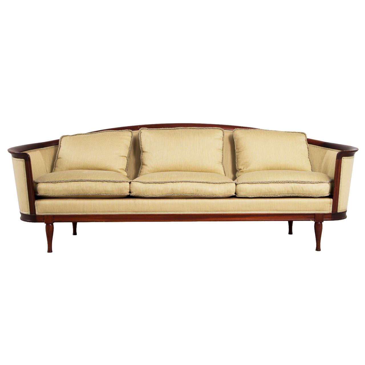 resin lounge chair discount patio cushions elegantly curved scandinavian sofa, 1930s at 1stdibs