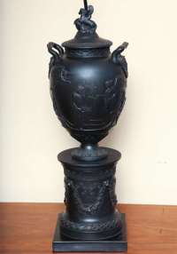 Wedgwood Basalt Lamp For Sale at 1stdibs