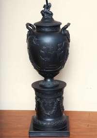 Wedgwood Basalt Lamp For Sale at 1stdibs