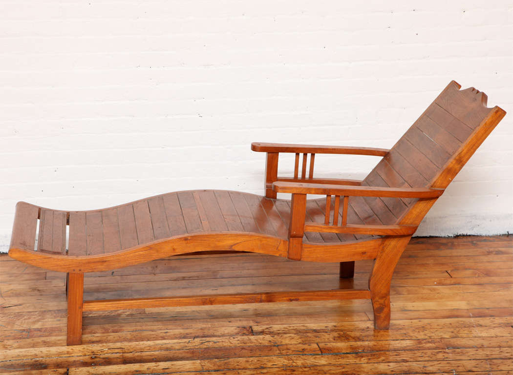 teak lounge chair ergonomic qatar vintage in the dutch colonial style from 1940s a java with wavy seat and slanted back