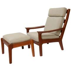 Teak Lounge Chair Couch Arm Covers 1960s Juul Kristensen And Ottoman At 1stdibs