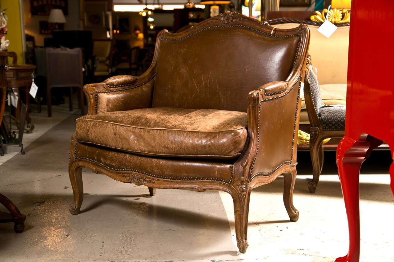 french provincial chair and ottoman eddie bauer lawn chairs style bergere for sale at 1stdibs