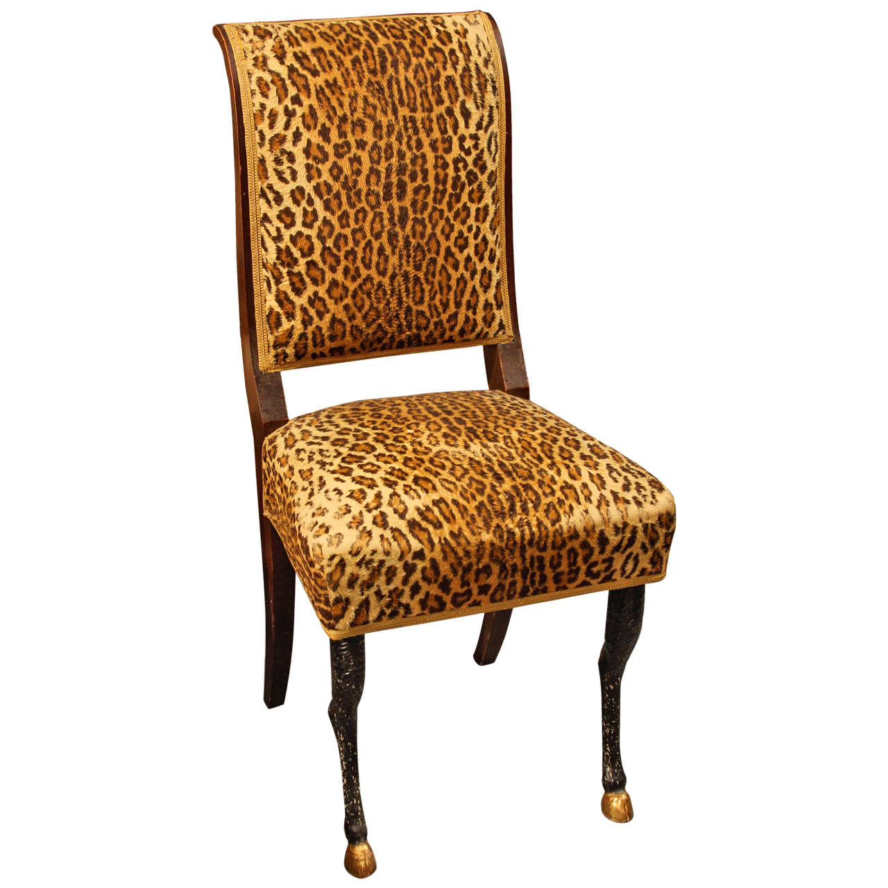 Cheetah Chair Faux Leopard Chair At 1stdibs