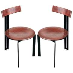 Industrial Dining Chair Parson Room Sets 4x Look Chairs At 1stdibs