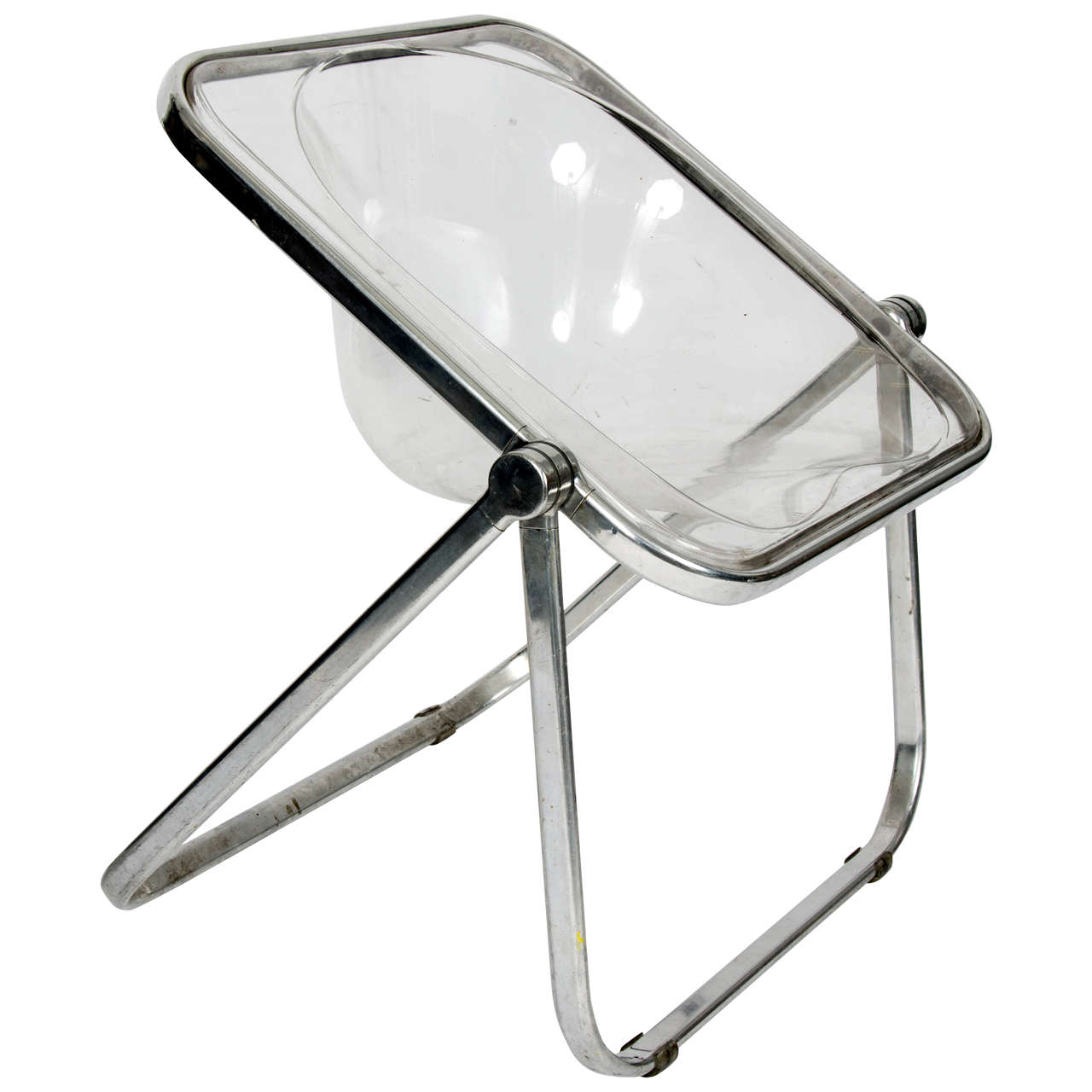 1960s Giancarlo Piretti Plia Clear Folding Chair For