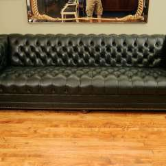 Abbyson Living Belmont Leather Sofa Club Style Antique Chesterfield Chair | Furniture
