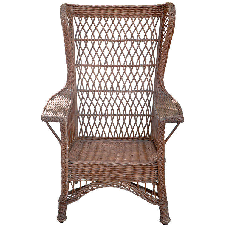 antique wicker chairs chair covers wedding hire cardiff wingback at 1stdibs for sale