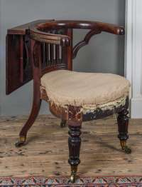 George III Mahogany and Brass-Mounted Reading Chair For ...