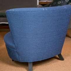 Oversized Upholstered Chair Folding Glides Mid Century Gilbert Rhode At