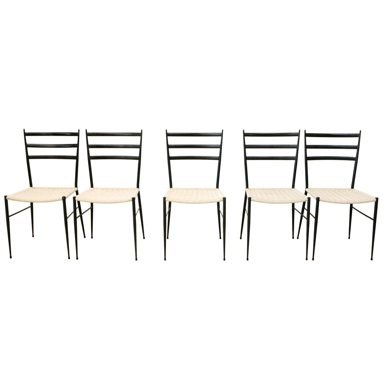 Set Of 12 Superleggera Chairs In The Style Of Gio Ponti At