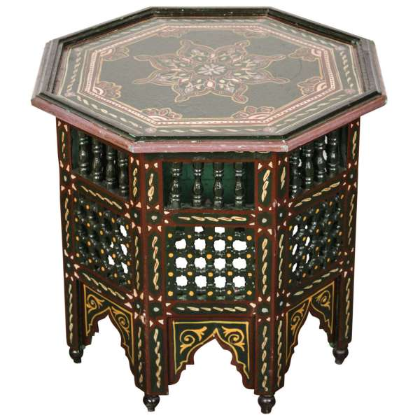 Moroccan Hand Painted Side Table