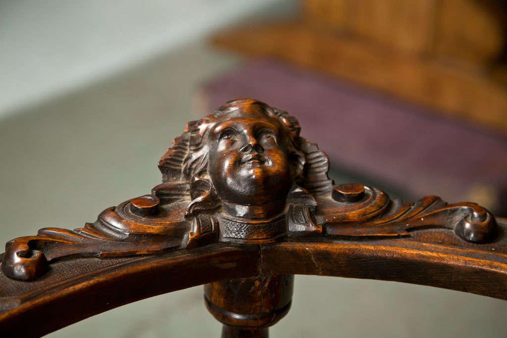 antique dining chair leg styles diy bean bag victorian corner chairs w/ cherub heads at 1stdibs