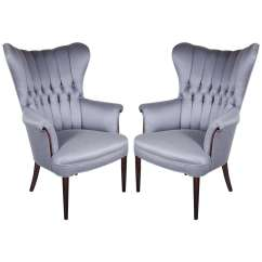 Adrian Pearsall Chair Painted Adirondack Chairs Sophisticated Pair Of 1940's Hollywood Tufted And Channel Back Occasional At 1stdibs
