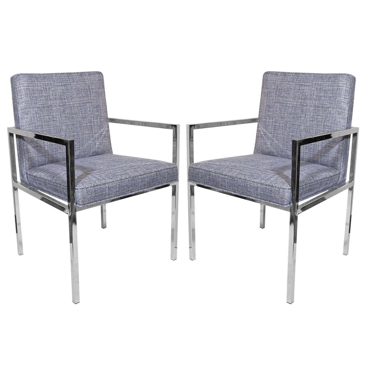 milo baughman chair birthday cover for classroom pair of side chairs in woven rogers and