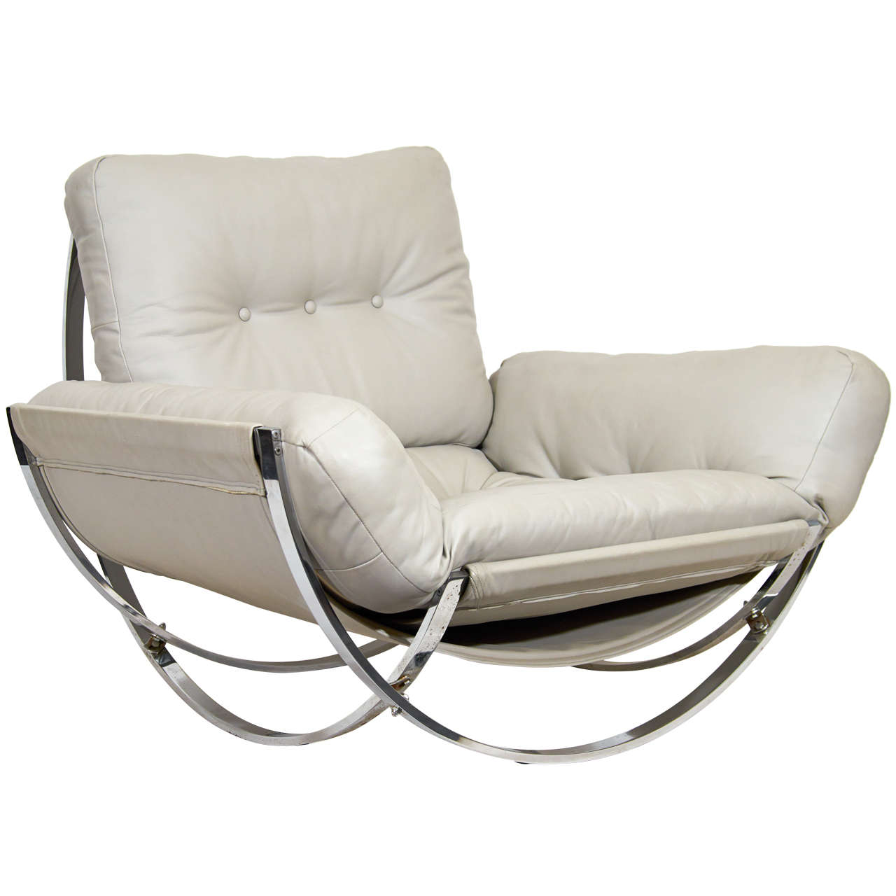 leather and chrome chairs wood chair plans sculptural italian lounge for