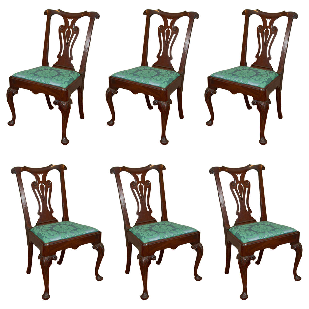 set of six dining chairs for sale butterfly chair cover irish 18th century georgian