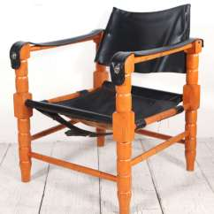 Black Spindle Chair Office Task Chairs Pair Of Safari Style Leather And Wood Framed