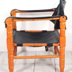 Black Spindle Chair Evac 600h Pair Of Safari Style Leather And Wood Framed