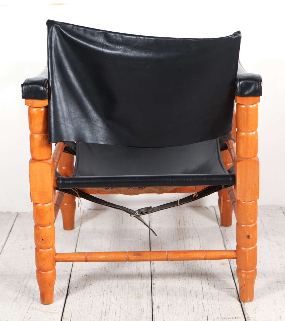 black spindle chair gym reviews 2018 pair of safari style leather and wood framed
