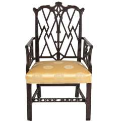 Chinese Chippendale Chairs Uk Leather Lounge Chair And Ottoman Set Style Arm For Sale At 1stdibs