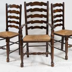 Wicker Ladder Back Chairs Time Out For Toddlers Six English Dining At 1stdibs