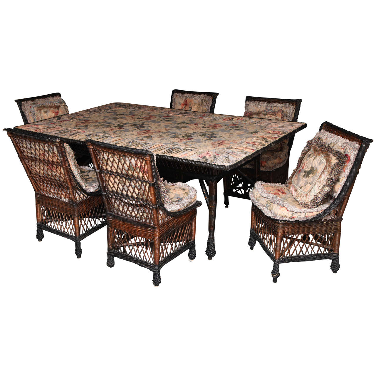 wicker chairs for sale posture chair uk antique bar harbor dining table and set of