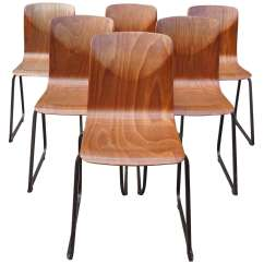 Stacking Rolling Chairs Revolving Chair Hsn Number Set Of Eight Dutch Circa 1960 At 1stdibs