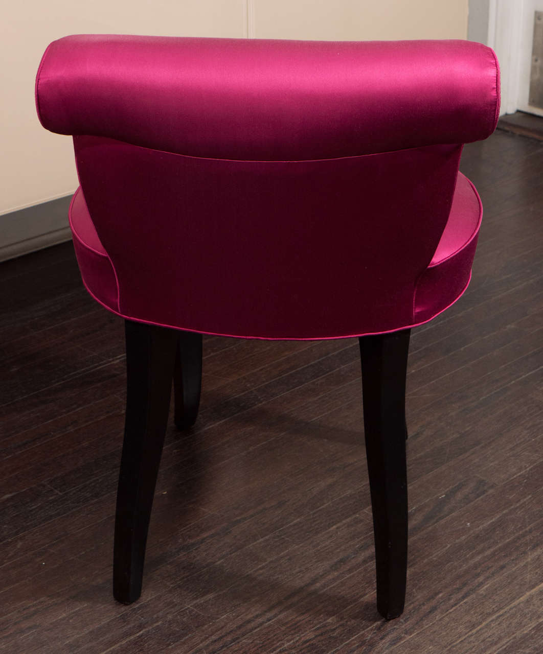 pink vanity chair staples desks and chairs vintage 1940s french stool in hot satin