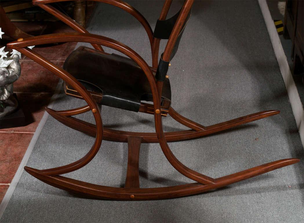 american leather swing chair hanging egg new zealand walnut studio rocker by tripp carpenter at 1stdibs