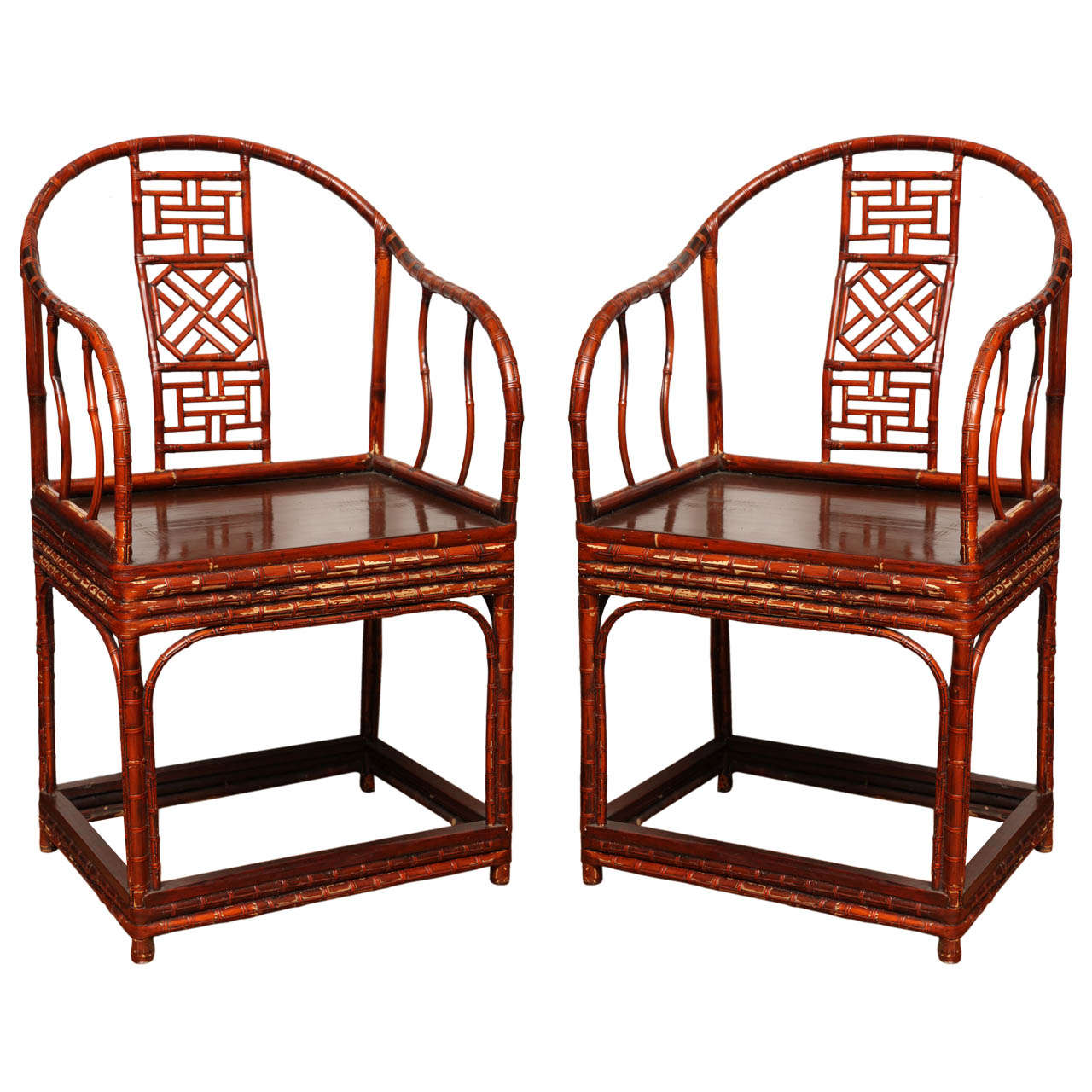 bamboo chairs for sale bedroom accent chair ideas antique chinese horseshoe back armchair only 1