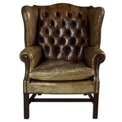 Leather Wingback Chairs South Africa Short Directors Chair 1920 S With Nail Heads At 1stdibs For Sale