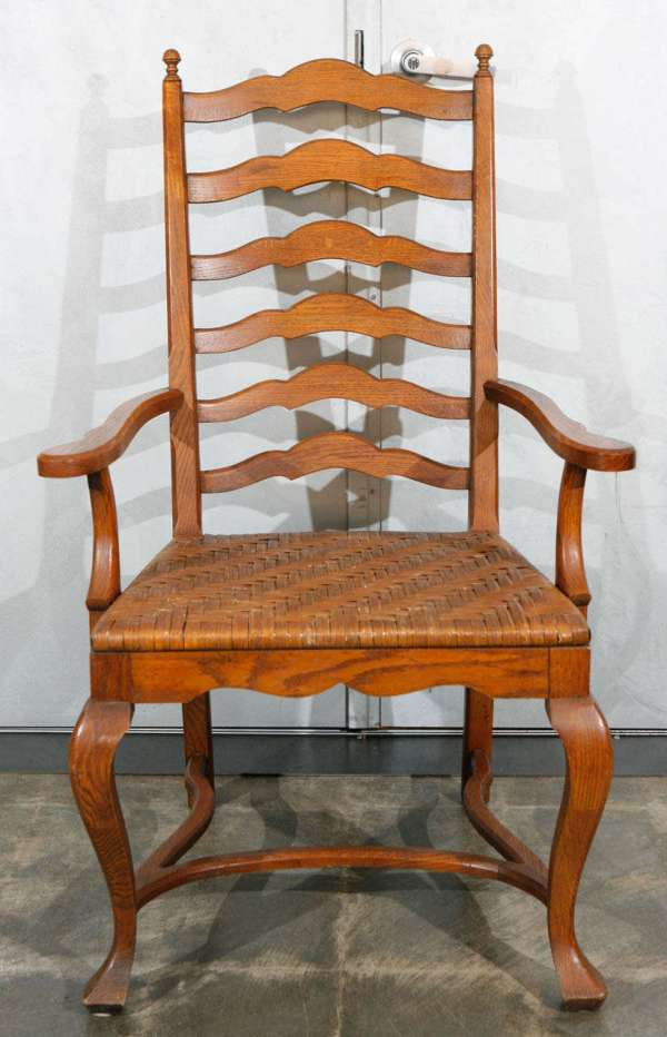 Set Of 6 Ladder Oak Dining Chairs 1stdibs