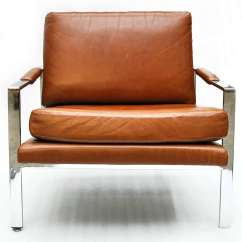 Leather Chrome Chair Office Height Milo Baughman And At 1stdibs American For Sale