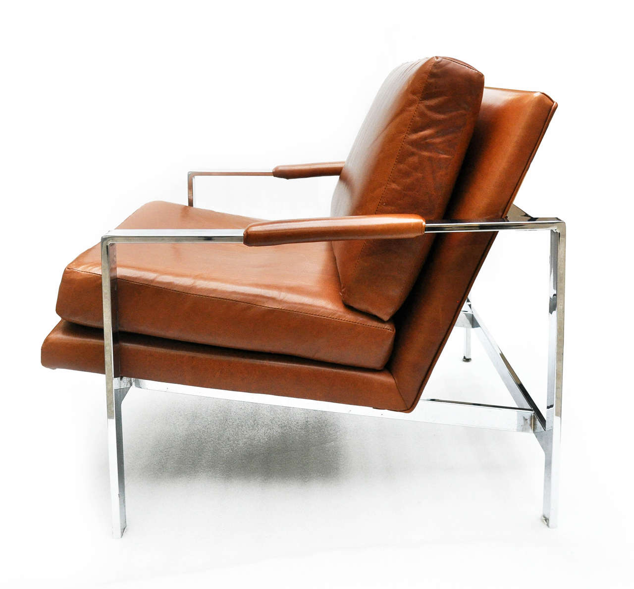 leather and chrome chairs chair cover hire dandenong milo baughman at 1stdibs