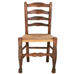 Wicker Ladder Back Chairs Intex Inflatable Pull Out Chair Twin Bed Mattress Sleeper Turn Of The Century And Woven Seat At