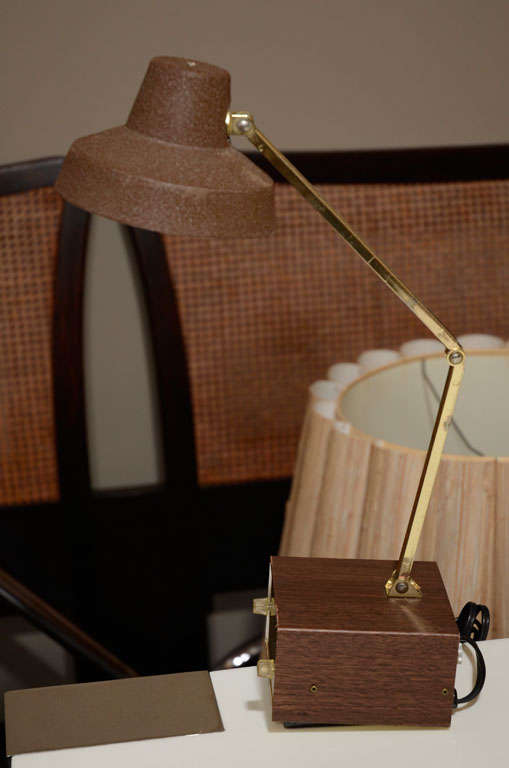 MidCentury Alarm Clock Task Lamp by Tensor For Sale at