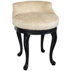 Swivel Vanity Chair Cheap Chairs Living Room Ikea 1940s Hollywood Stool In Faux Lambs Wool And